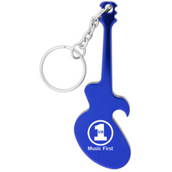 PersonalizedGuitar shaped bottle opener key chain