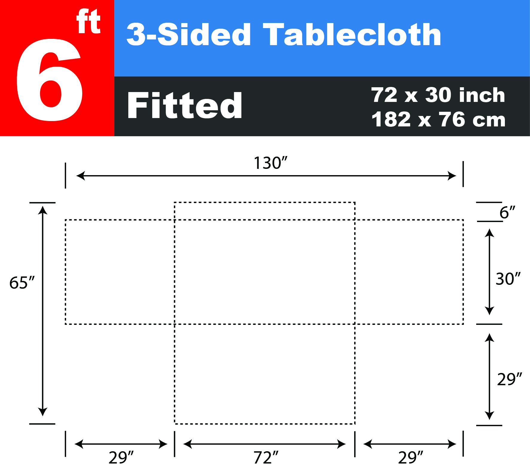 6 ft table cloth for 10 foot table cloths