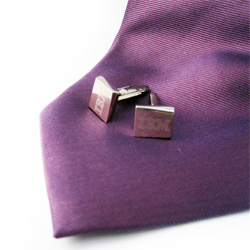 PersonalizedEngraved Metal Cufflinks