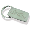 Personalized - Keyring with Matt Nickel Fob - SPECIAL PRICES!!!