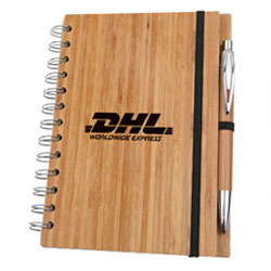 Personalized - Eco Bamboo Notebook with Pen
