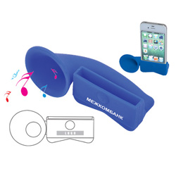 PersonalizedSilicone iphone holder with horn