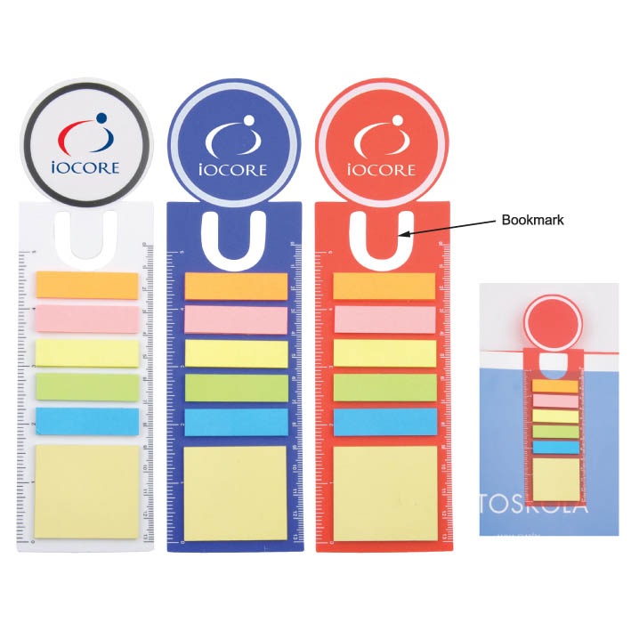 Personalized - PP Sticky Notes with Bookmark and Ruler
