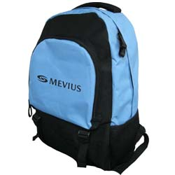 Personalized - Backpack - light blue and black - reduced prices!