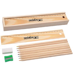 Personalized - Wooden Colourful Pencil Set