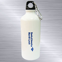 Personalized3 hour White Aluminium Flask