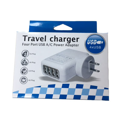 Personalized - 4 usb port travel adaptor