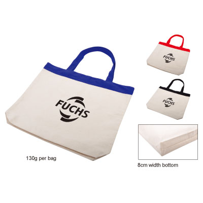 Personalized - Cotton Tote with Colour Trim