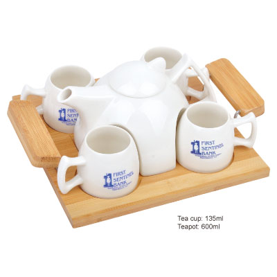 Personalized - 5pc Tea Set