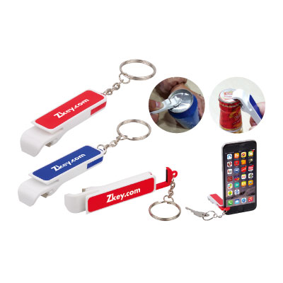 Personalized - Keychain Bottle Opener Mobile Stand