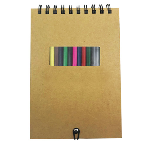 Personalized - A5 Notebook with Crayons