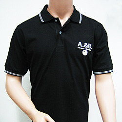 Personalized3 Hour printed Black  Polo shirts