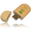 Personalized - Keychain Wood USB
