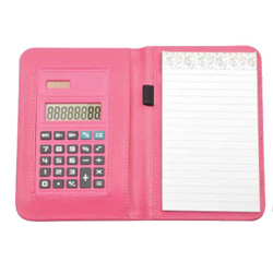 PersonalizedWallet Memo Pad with Calculator