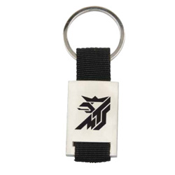 PersonalizedMetal Key Ring with Strap