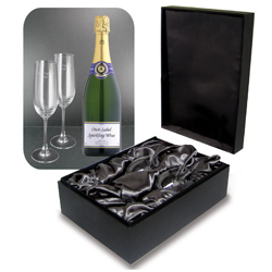 Personalized - Sparkling Wine Gift Set